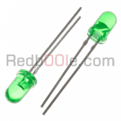 10 x LED verde 5mm luce diffusa