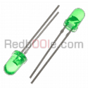 10 x LED verde 5mm luce diffusa