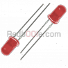 10 x LED rosso 5mm luce diffusa