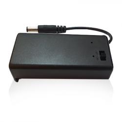 Custodia per batterie 9V con interruttore ON/OFF e jack